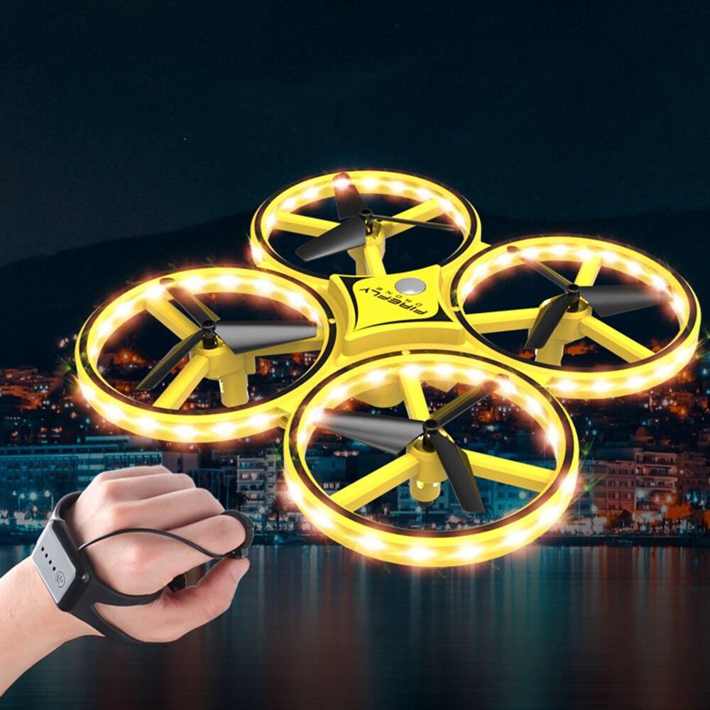 2019 Pneumatische Smart Uhr Fernbedienung Spielzeug Bedienen Flugzeug Drone Fernbedienung Schwerkraft Sinn Flugzeug Spielzeug