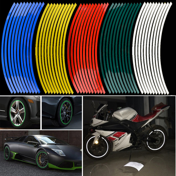 Newest 16 pcs strips wheel stickers and decals 14 17 18 reflective rim tape bike motorcycle.jpg 350x350