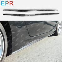 For Nissan 370Z Z34 Carbon Fiber Side Skirt Step Extension Body Kit Auto Tuning Part For 370Z Carbon Step Extension (2009 2019)