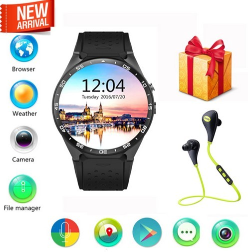 VIVO KW88 Android 5.1 Smart Watch 512 + 4 ГБ Bluetooth 4.0 WIFI 3 Г Телефон Smartwatch Наручные Поддержка Google Voice GPS карта