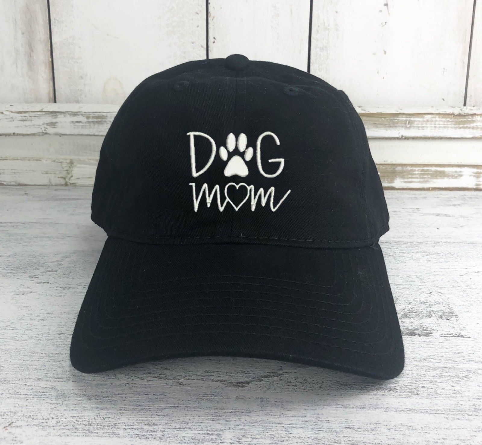 Dog Mom Logo Dad Hat Printed   Baseball     Cap   Dog Lover Dog Paw