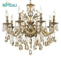 Современный роскошный большой золотой кристалл Люстры Освещение светильники лампы для Гостиная Спальня и исследование AC 110 В ~ 240 В