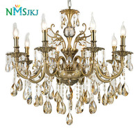 Modern Luxury Large Gold Crystal Chandeliers Lighting Fixtures Lamp for Living Room Bedroom and Study AC 110V~240V