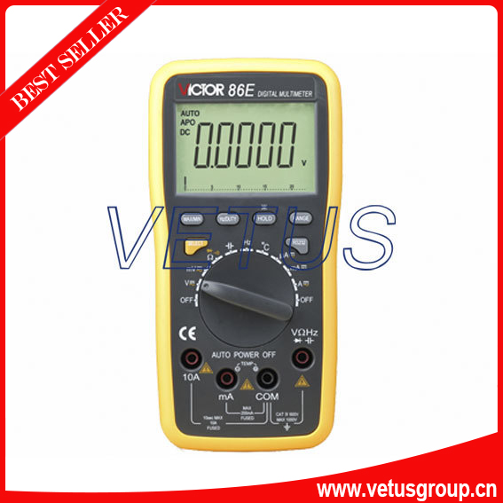 VICTOR 86E high precision Digital Multimeter with USB victor dm6235p digital tachometer