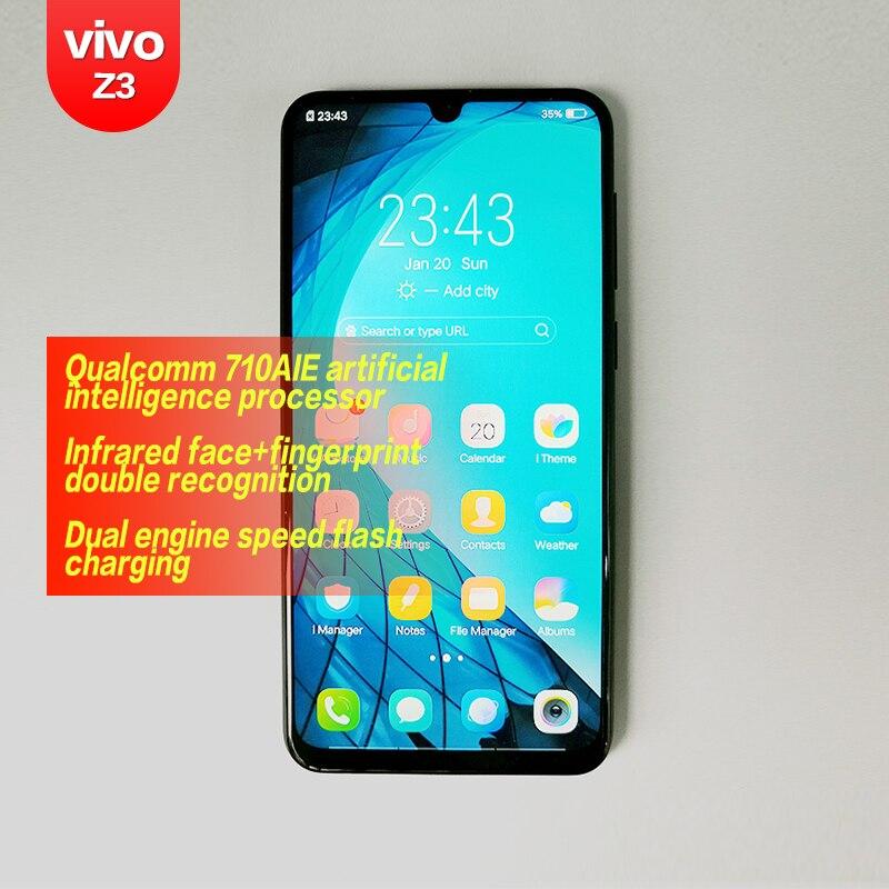 VIVO Z3 original Snapdragon 670/710AIE 16MP caméra frontale LTE Android 8.1 4G/6G + 64G/128G 6.3