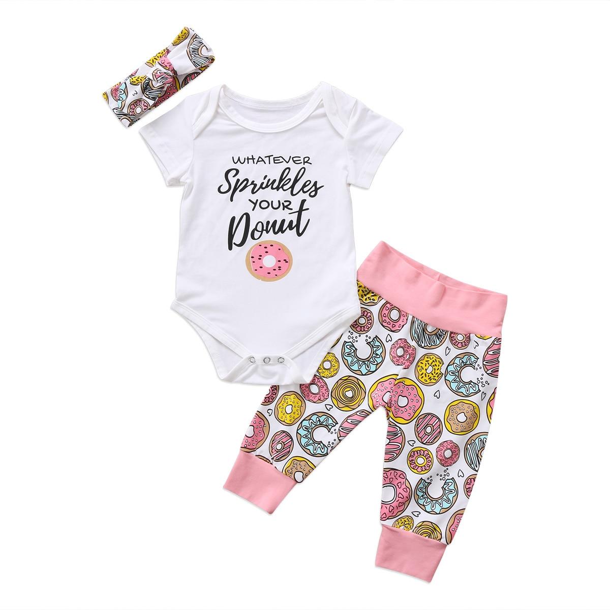 Pants+Hat Outfits Set kaiCran 3PCS Newborn Baby Boys Girls Adorable Long Sleve Letter Print Romper