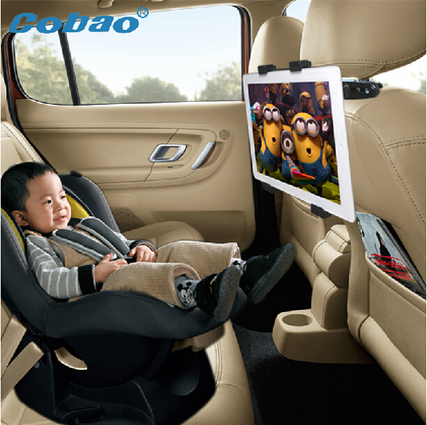 Car Seat Back Pillow Headrest Mount Holder Black For For Ipad 2 3 4