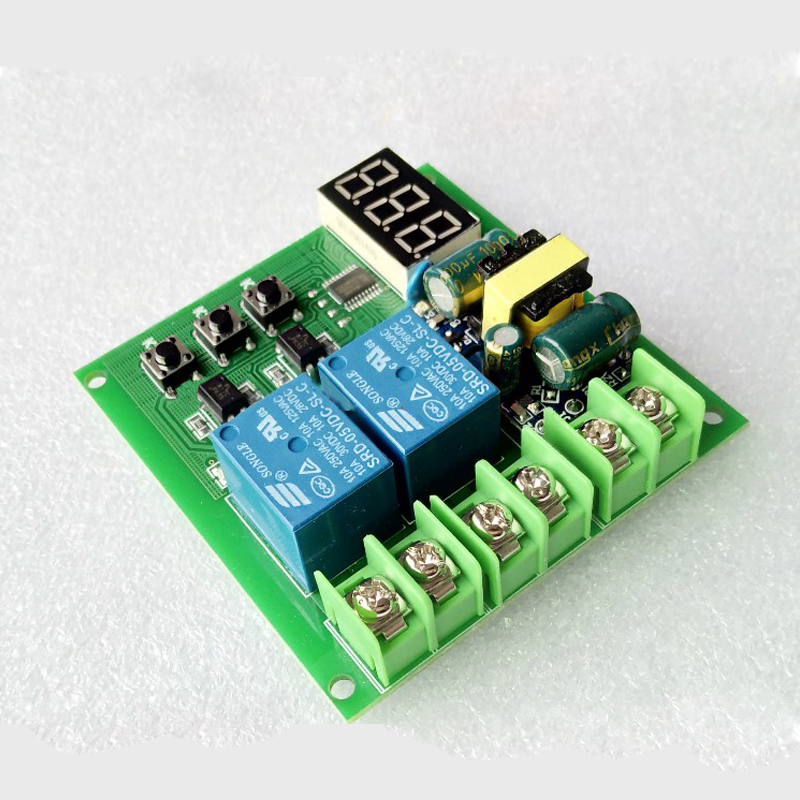 220V Dual Relay Control Board / Delay Switch Module / Delay Relay / Two Outputs Programming relay 15 control board stc12c5a60s2 dual serial mcu