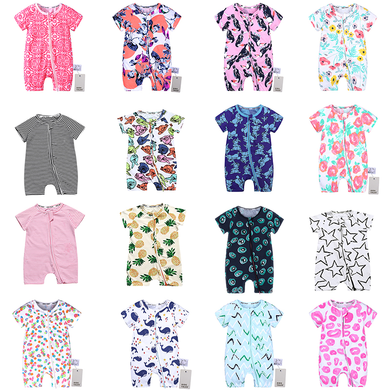 SR345 Unisex Newborn Baby   Rompers   Cotton Baby Boy Clothes Infant Jumpsuits Summer Bebe Clothes Short Sleeve Baby Girls   Rompers