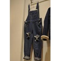 HANZANGL Plus Size Clothing New Spring Denim Jumpsuits Women Romper Long Pants Jeans Female Suspender Pant