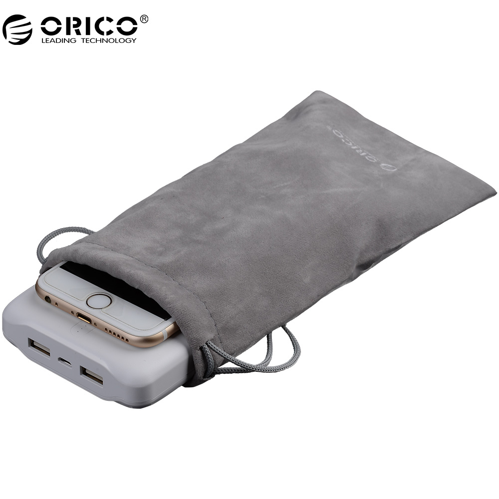 ORICO SA1810 Portable font b Drawstring b font Pouch For Phone Power Bank Velvet Packaging font
