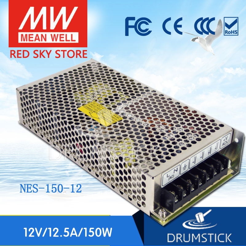 (12.12)MEAN WELL NES-150-12 12V 12.5A meanwell NES-150 150W Single Output Switching Power Supply meanwell 12v 150w ul certificated nes series switching power supply 85 264v ac to 12v dc