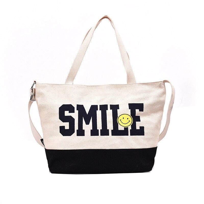 Femmes fourre-tout sacs à provisions Simple Wild Sen mode décontracté grande capacité personnalité populaire dames pliant sacs de plage