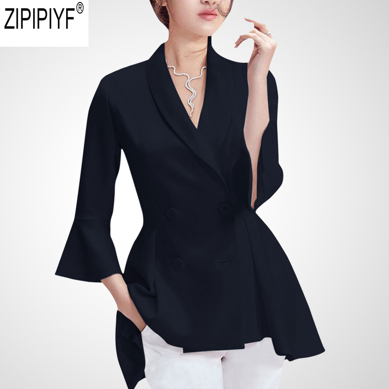 2018 High Quality Casual Women Coat Fashion Autumn Long Sleeve Turn Down Collar Feminino Ladies Tops