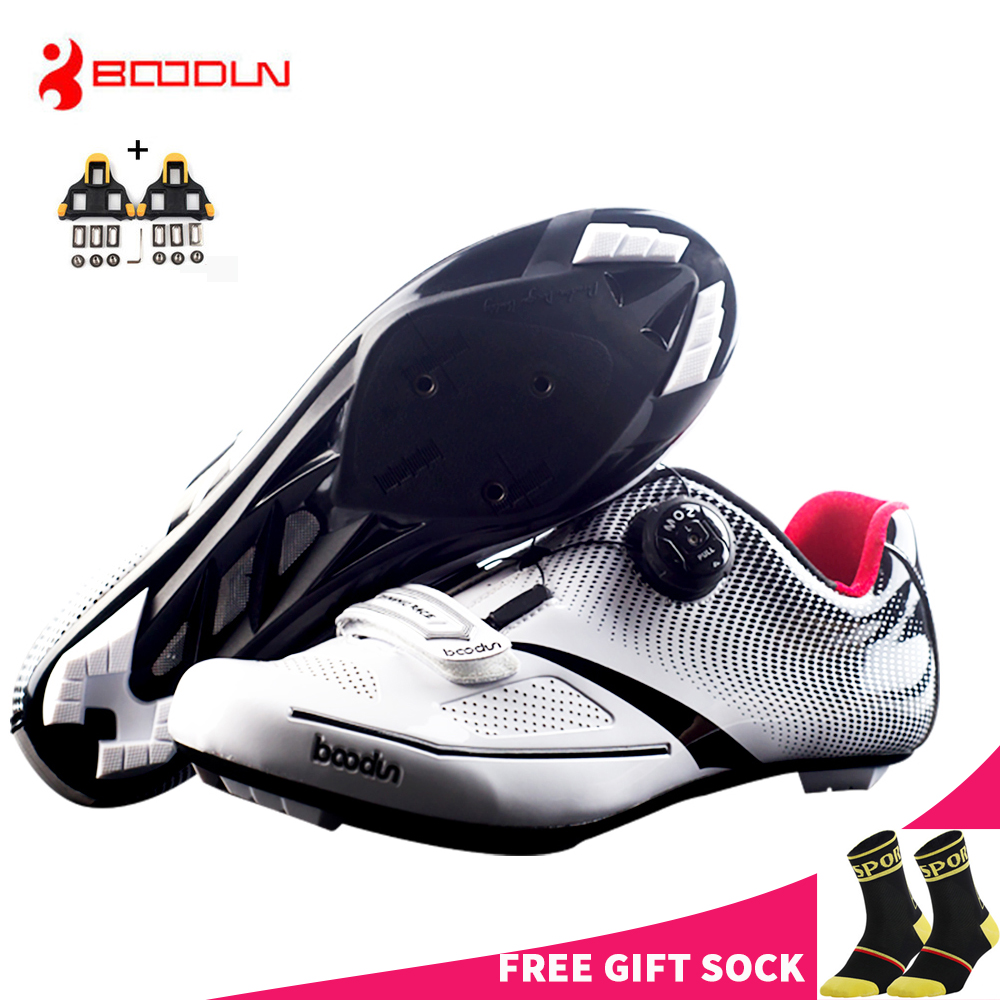Free Ship From USA BOODUN Men s Cycling Shoes Breathable Pro Self Locking Road Bike Bicycle