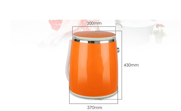 Mini Washing Machine Automatic Women Children Clothes Cleaner Dehydrated Mini Tube 2.1-4.5kg Wash Dry Underwear Care Cleaner