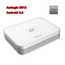 New I7 Smart TV Box Android 6.0 Amlogic S912 Octa Core 4K Mini PC 2.4G&5.0G Dual Band WiFi 1000M LAN DLNA Miracast Media Player