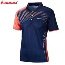 Оригинальная рубашка с лацканами Kawasaki для спорта, бадминтон, теннисная футболка, мужская спортивная быстросохнущая футболка для тренировок на открытом воздухе, ST-S1101