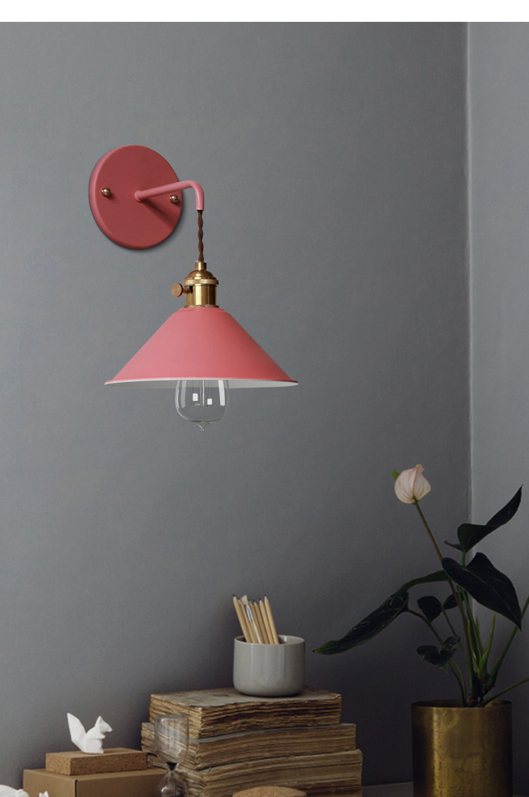 Wall Light Modern Wall Lamp Colorful Wall Light Loft Sconce With Switch Lamp American Country Living Room Study Bedroom Fixture