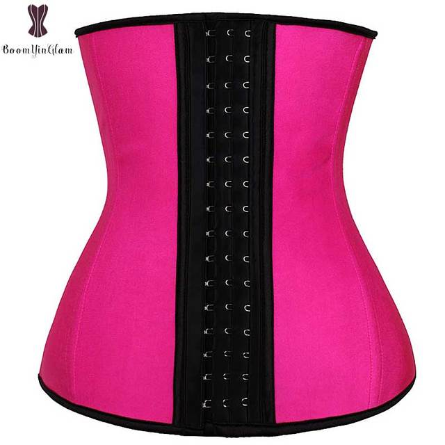 3c1fa5e222 Smooth Latex Waist Trainer Solid Steel Boning Waist Trimmer Plus Size  Everyday Wear Corset Women Weight Loss Sexy Body Shapewear