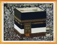 Pilgrimage To Mecca 2 DMC Scenery Needlework Cross Stitch Kit 11CT Accurately Printed Embroidery DIY Handmade