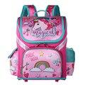 Рюкзак для начальной школы для девочек  новинка 2019  детский рюкзак с цветочным принтом и единорогом  ортопедическая школьная сумка на молни...