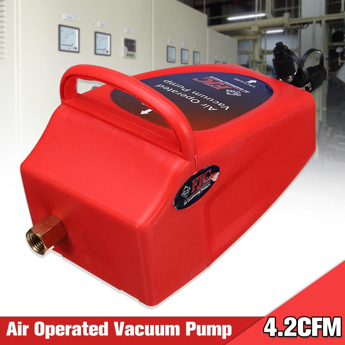 4.2CFM Air Operated Vacuum Pump A/C Air Conditioning System Tool Auto 1/2 ACME (R134a) & R12 Connector 80~150PSI Air Pressure 155 80 r12