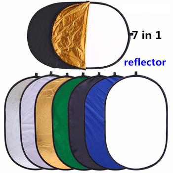 90 #215 120 cm 7in1 przenośne przenośne przenośne przenośne przenośne składane owalne Multi-Disc światło photo studio reflektor fotografia fotografia akcesoria tanie i dobre opinie 90*120CM 7 IN 1 NiYi