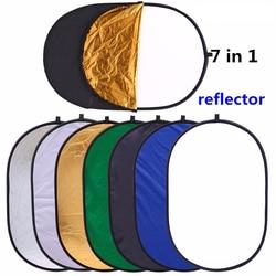 90x120cm 7in1 Portable Collapsible oval Multi-Disc light photo studio Reflector fotografia photography accessories