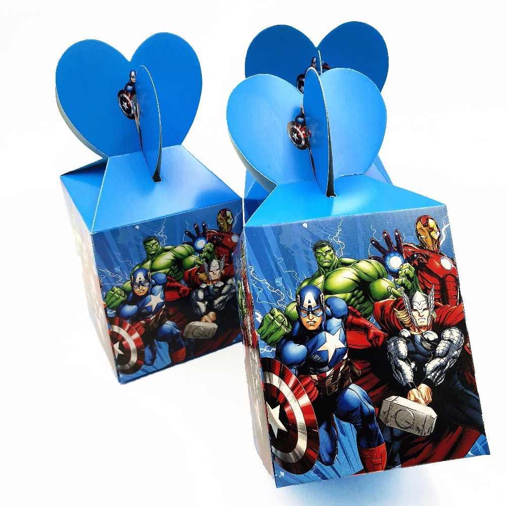 をアベンジャーズ漫画キャンディ収納紙袋ベビーシャワーのギフト誕生日 Infantiles Decoracion イベントパーティー用品 6 ピース/セット