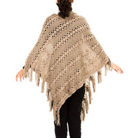 2014 Women Yarn Knitted Hollow Out Crochet Poncho To Keep Warm And Fashion Shawls NL 2205