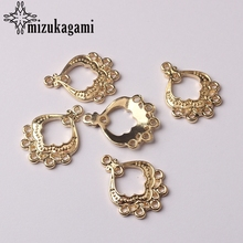 US $1.8 10% OFF|Golden Zinc Alloy Charms Water Drop Shape Connector Charms 10pcs/lot For DIY Tassel Earrings Jewelry Making Finding Accessories-in Jewelry Findings & Components from Jewelry & Accessories on AliExpress