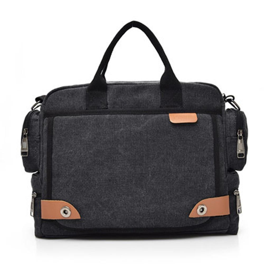Office Shoulder Bags Tote Men's Canvas Messenger Shoulder Briefcase Bag Crossbody Sling  Bags Satchel Handbag Laptop