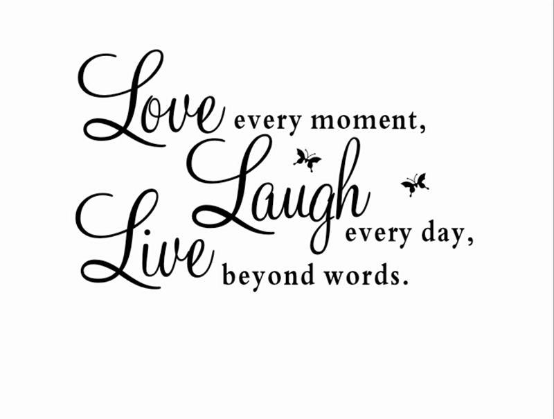 Live Love Laugh Quotes Beauteous Live Love Laugh Letters Waterproof Vinyl Wall Stickers Quotes