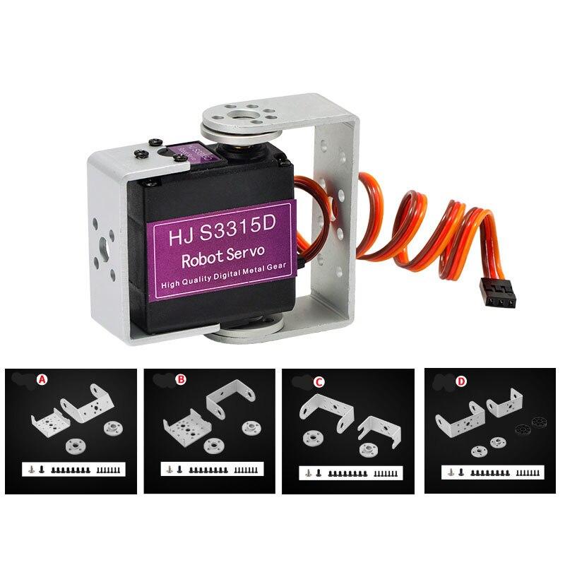 1PCS S3315D 15KG Servo Metal Gear Digital Servos 4.8-7.4V Dual Axis Server for DIY 180 Degrees Robot Upgrade Parts