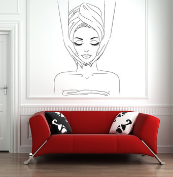 Spa Sign Facials Wall Decal Home Decor Vinyl Wall Stickers for Beauty Salon Window Sticker Removable Art B003 1