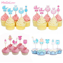 12/18/20pcs Baby Shower Cupcake Toppers Boy Girl It's a Boy It's a Girl Cake Picks Gender Reveal Babyshower Party Supplies