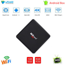 Vmade Mini Android 7.0 OS Smart TV BOX 1 gb 8 Allwinner H3 Quad Core Support H.265 Netflix Flixster 1.0ghz WiFi Set top box