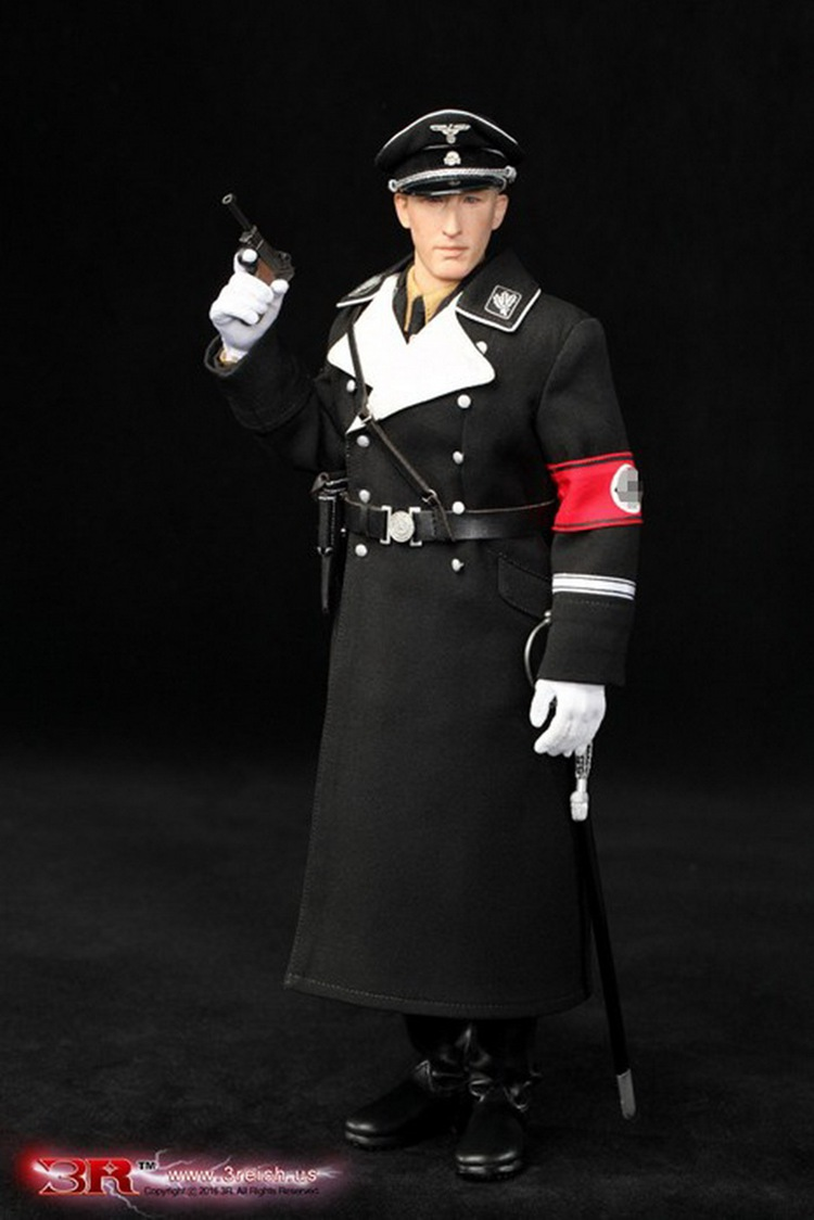 DID 3R GM634 World War II German Black Uniform Heydrich 1/6 Soldiers Action Figure Model Suits 1 6 scale wwii german admiral heydrich model action figure toys did 3r gm633 soldier toys collections m3