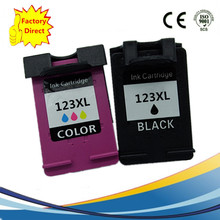 2 Pack Ink Cartridges For HP 123 XL 123XL HP123 HP123XL Deskjet 1110 1111 1112 2130 2132 3630 3632 Inkjet Printer