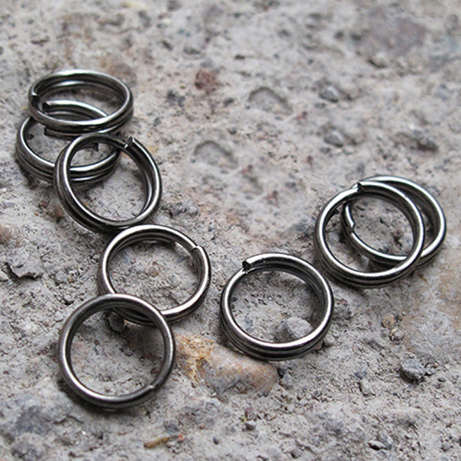 10PCS 10mm Diameter Split Key Ring Ultra Small Alloy Keychain Metal Wire Circle Keyring Creative DIY Accessories J079