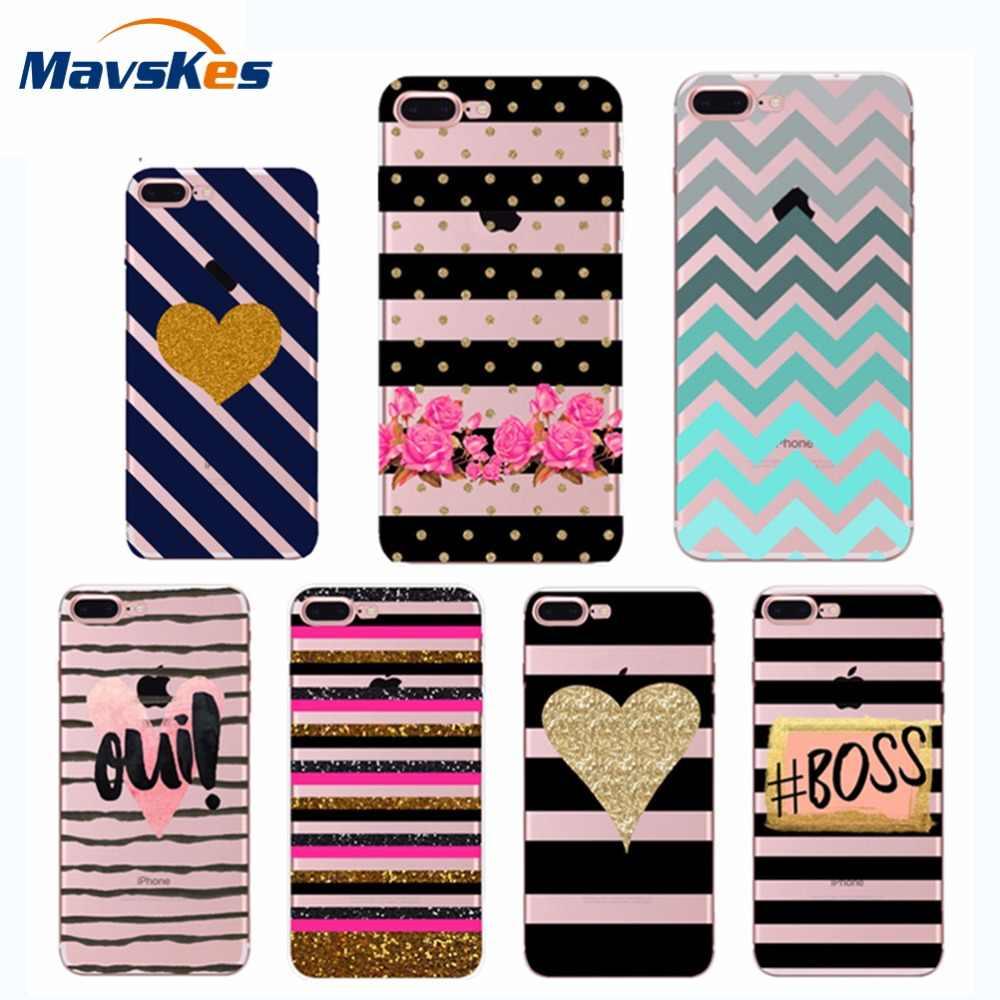 Na telefony komórkowe dla iPhone 6 przypadku silikonowy moda TPU Case dla iPhone 8 ultra cienki miękki pokrowiec na telefon etui na iPhone'a X 6 S 6 7 8 Plus