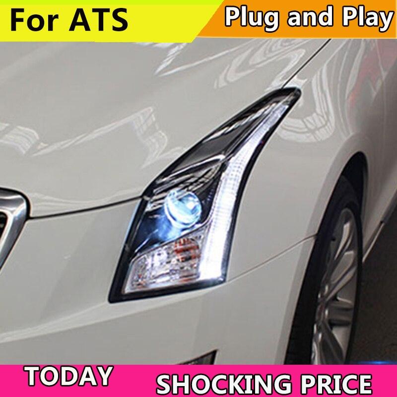 doxa Car Styling For Cadillac ATS headlights For ATS LED head lamp led front light Bi