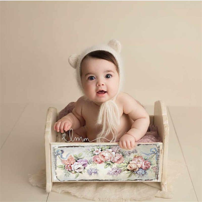 Аксессуары Для фотосъёмки новорожденных Infantil, деревянная кровать, аксессуары для детской фотостудии, ретро-детская кроватка, Детские принадлежности для девочек