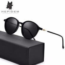 HEPIDEM New Fashion Acetate Round Sunglasses Men High Quality Sun Glasses for Women Vintage Mirrored Polarized Sunglass 5202