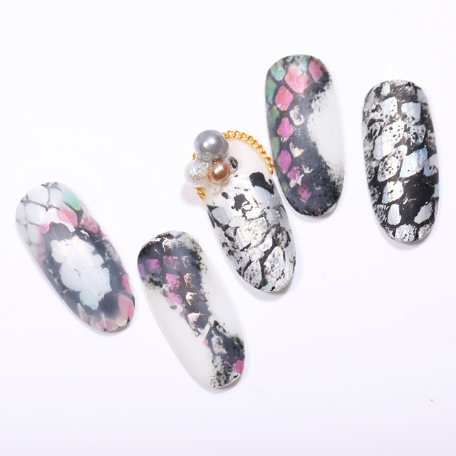 16Pcs Snake Nail Foil Decoration