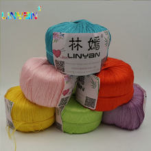 6 pieces*100g Hook knitted yarn thread for weaving thread to knit needle Knitting cotton yarn for knitting linha de croche t59(China)