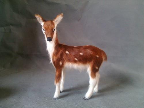 Simulazione cervo sika giocattolo modello realistico femminile deer 15x13  cm duro modello 54a321c8f87