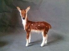 simulation sika deer model toy polyethylene & furs female deer 15x13cm hard model,decoration birthday gift t342