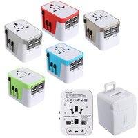 KROAK USB Adaptador Universal de Viagem Alimentação AC 110 V 240 v W/Caixa Mop Para a EUROPA EUA REINO UNIDO AU